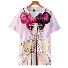 LUCKYFRIDAYF 3D Fashion CRY BABY print Summer Short Sleeve Baseball t shirt Skull Print Women/Men T Clothes 4XL