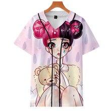 fac2e97cd10c6 LUCKYFRIDAYF 3D الأزياء صرخة الطفل طباعة الصيف قصيرة الأكمام البيسبول t قميص  الجمجمة طباعة المرأة