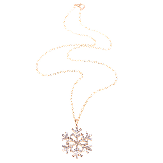 Cheap fashion jewelry CZ Crystal charm necklaces snowflake necklace for christmas flower pendants necklace bijoux colliers 2015 5