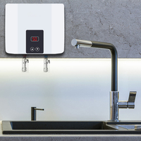 Instant Tankless Electric Water Heater Wall Mounted Water Heater Thermostat Fast Heating Hot Shower For Kitchen Bathroom 5500W