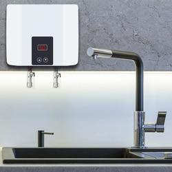 Instant Tankless Elektrische Boiler Wandmontage Boiler Thermostaat Snelle Verwarming Hot Douche Voor Keuken Badkamer 5500W