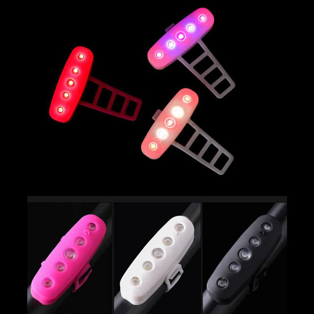 3 Colors HobbyLane Silicone Bicycle Light LED Taillight Rear Safety Warning Bicycle Portable Light USB Rechargeable Hot Sale in Bicycle Light from Sports Entertainment