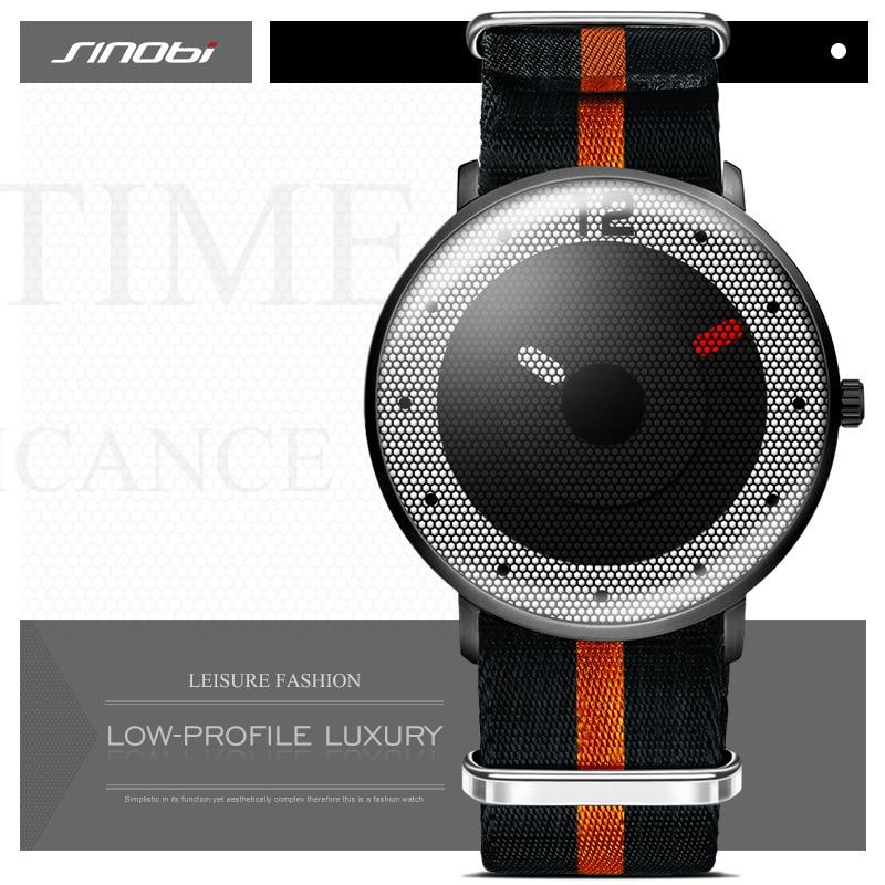SINOBI New Style Men Watches 2016 Sports Watch For Men NATO Nylon Watchband Chronograph Quartz Wristwatches