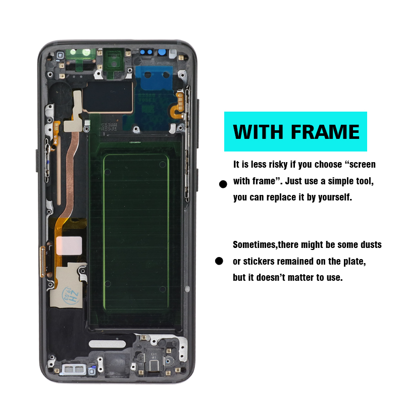HTB1e94laq1s3KVjSZFtq6yLOpXaH original S8 S8plus Display Screen for SAMSUNG Galaxy S8 Screen Replacement LCD Touch Digitizer Assembly G950F G955 with FRAME