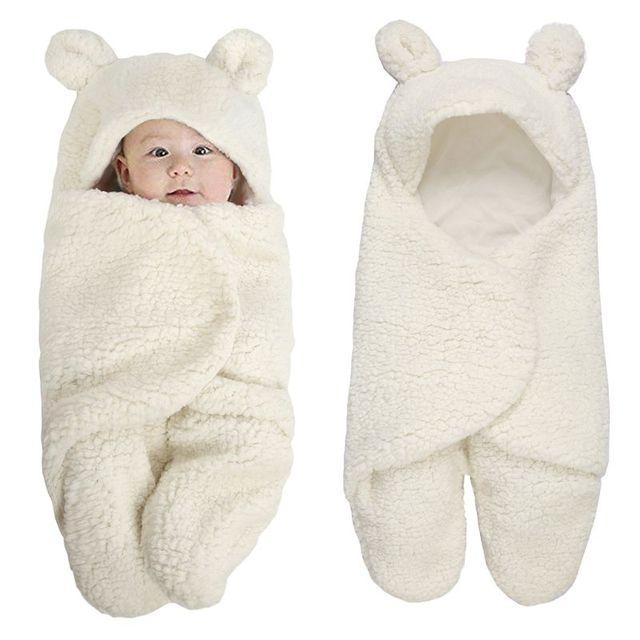 Tampa do pé Do Bebê recém-nascido Swaddle Envoltório Inverno Escalada terno Do Bebê macacão de Algodão Com Capuz de Pelúcia Saco 0-12 M