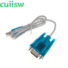 1PCS  HL 340 New USB to RS232 COM Port Serial PDA 9 pin DB9 Cable Adapter support Windows7 64