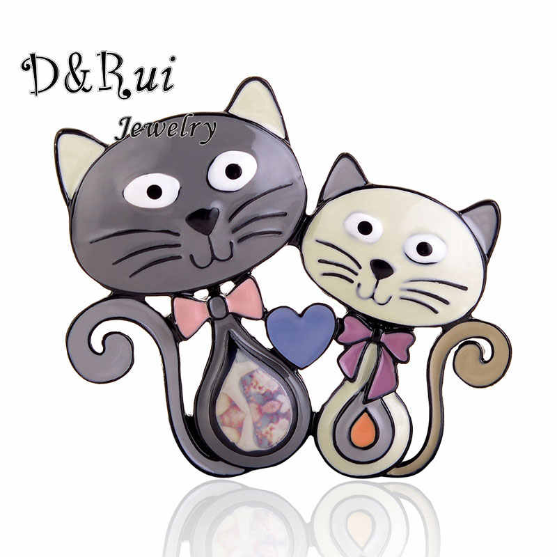 Cute Cats Brooches Enamel Metal Brooch Fashion Pin Up Classical Accessories Sweater Decoration Pins Banquet Weddings Accessories