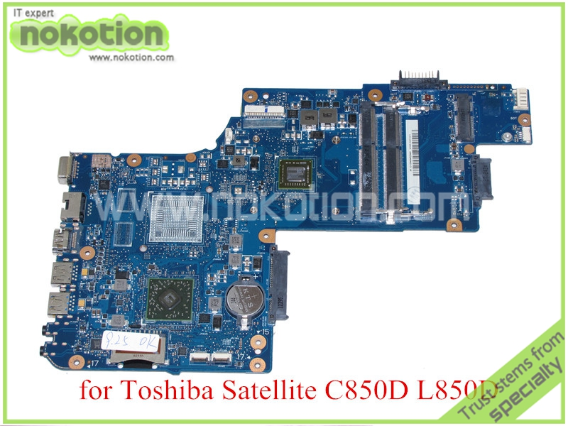 For toshiba satellite C850 C850D L850D Laptop motherboard 15.6'' DDR3 EM1200 CPU Onboard Mainboard H000052450