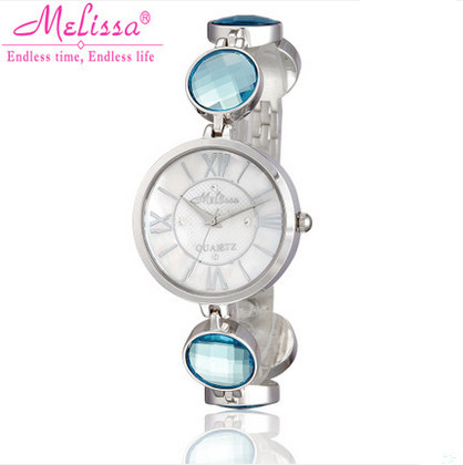 New Stylish MELISSA Bracelet Watch Elegant Women Candy Color Crystals Wrist watch Imported Quartz Dress Reloj Montre Femme F8109 farewell footwear обувь на шнурках