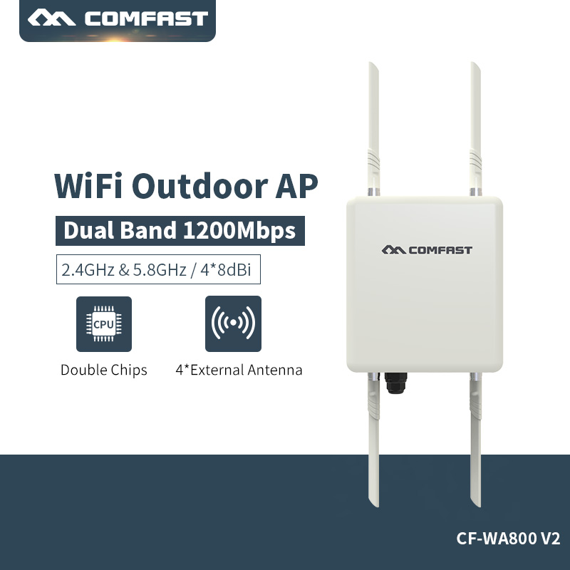 Comfast CF-WA800-V2 500mW(27dBm) Wifi Extender High Power Outdoor Wifi Repeater 2.4G+5GHz Wireless Wifi Router with PA Watchdog цена