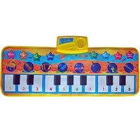 어린이 피아노 매트 음악 카펫 아이 아기 터치 플레이 게임 뮤지컬 카펫 동물 담요 러그 musicToys 피아노 장난감 선물 동물