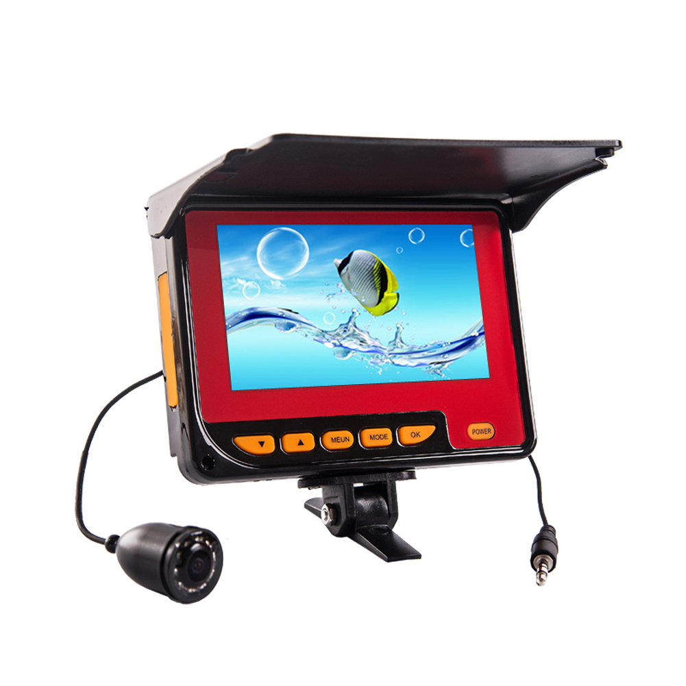 20M Professional Fish Finder Underwater Fishing Video Camera Monitor 150 Degree Angle 4.3'' HD Color Digital LCD Fish Camera 2 4g wireless fish finder underwater fishing camera video free soft app 50m underwater breeding monitoring for fish searching