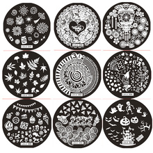 1 Pcs 12 Designs Nail Stamping Plate (5.5*5.5cm) lantern,Leaves,Halloween Stamper Art Tools Manicure Accessories #hehe