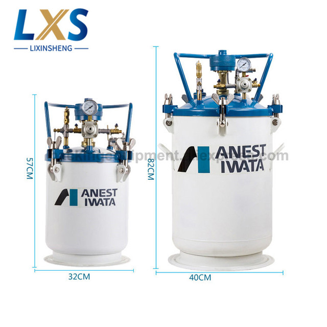 anest iwata iwata 10 20 40 60 liter paint mixing tank pressure tank manual automatic mixing pressure barrel