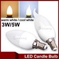 LED Bulb E14 Milkly White Lampshade 220V 230V 240V  LED Light Bulb Lampada SMD 2835 Bombillas 3W 5W Chandelier LED Candle Light