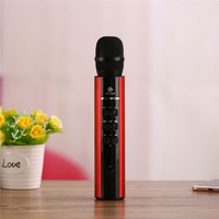 2018 Qiateng Brand New players Karaoke Microphone Wireless Bluetooth Speaker Handheld Music Player Singing Support IOS Android