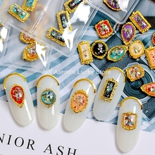 18 шт 3d Металлические блестящие украшения для ногтей, стразы, подвески для ногтей, ювелирные изделия, аксессуары, драгоценный камень