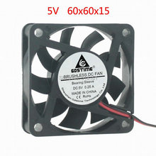Gdstime 60x60x15mm DC 5V 2Pin 6015 6cm 60mm Computer PC CPU Cooling Cooler Fan цены