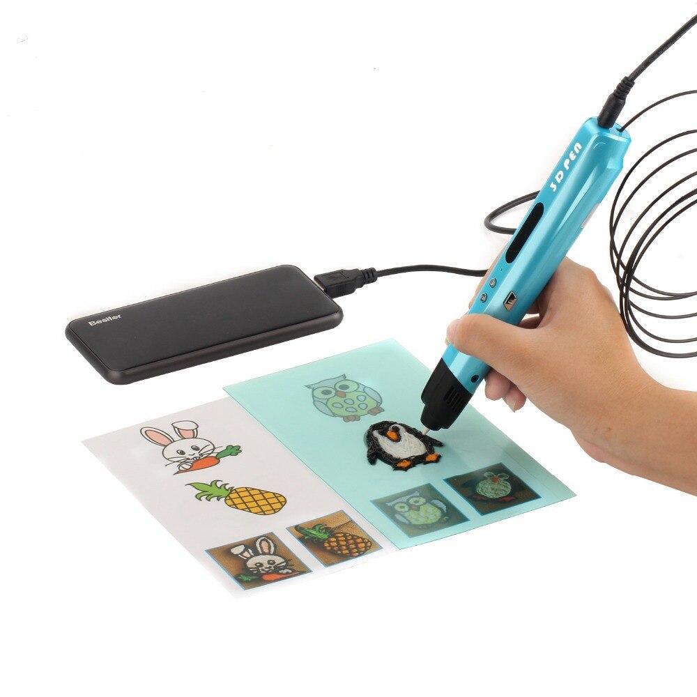 Impressora 3D Impressão Caneta Desenho Presente DIY