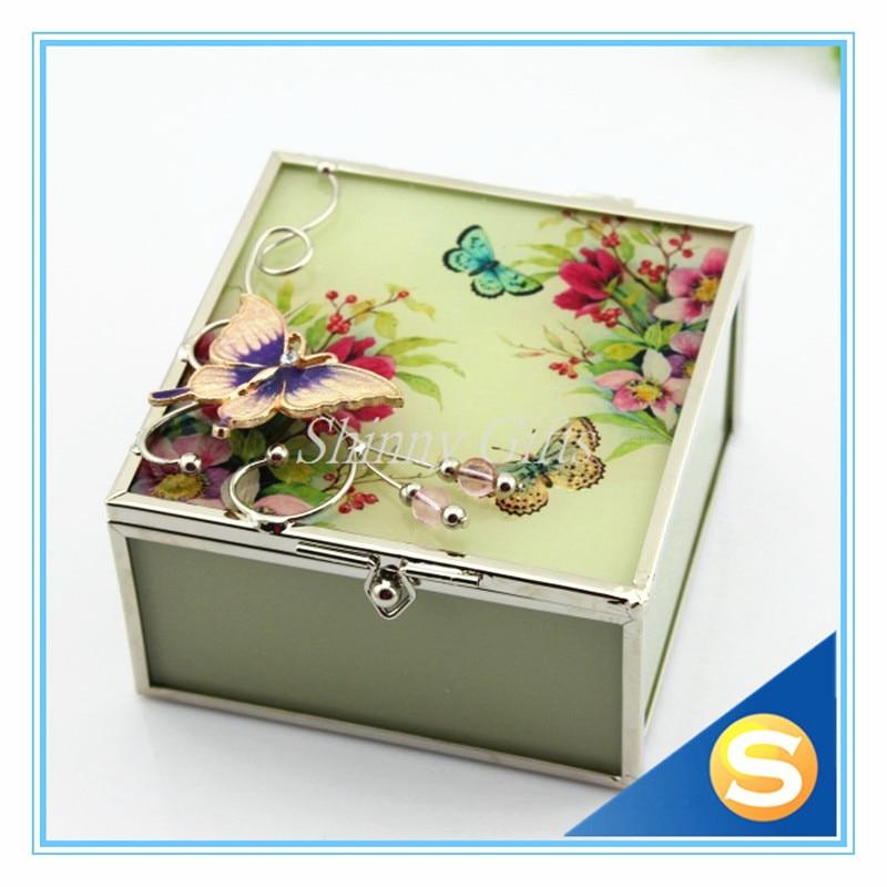 New Fashion Wedding Gifts Butterfly Design Glass Trinket