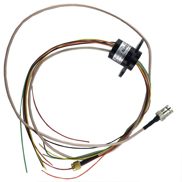 1080P Mixing Multichannel Sliprings 1CH HD SDI+6CH/12/16 Channel High Frequency Electric Collecting Slip Rings with SMA/BNC