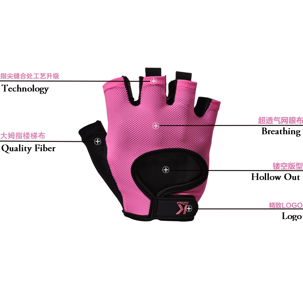 Womens pink leather motorcycle gloves - Free Shipping Pink New Brand Women Tactical Gloves Military Professional Men Fingerless Gloves Biker Fitness Pink