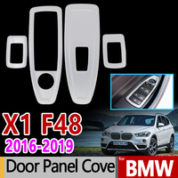 For BMW F48 X1 Chrome Trim Set Stainless Steel Window Switch Panel Cover 4Pcs Car Accessories