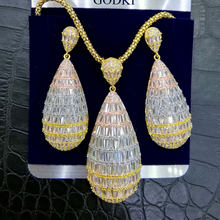 GODKI Luxury Water Drop Cubic Zircon ไนจี(China)