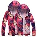 2016 Homens & Mulheres Jaquetas de Outono Nova Solto Protetor Solar das Mulheres Jaqueta Com Capuz Homens Outwear Casaco Mulheres Blusão Fino SS032