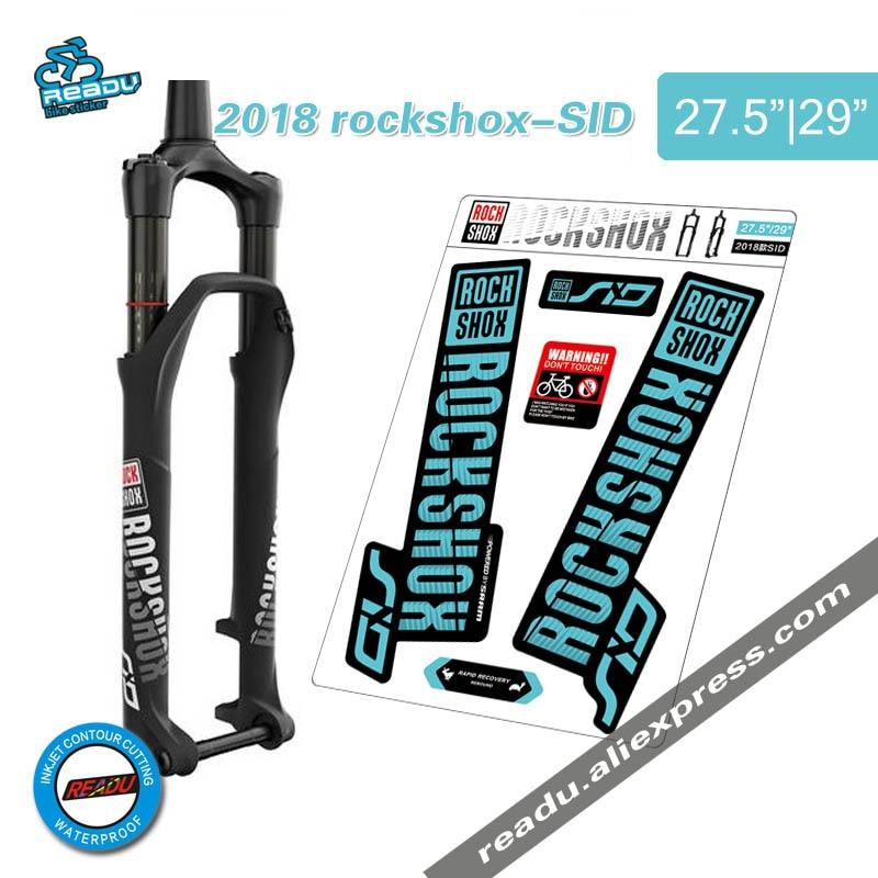 2018 rockshox SID mountain anteriore della bici decalcomanie forcella anteriore della bicicletta forcella adesivi