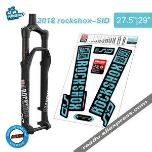 Image 1 - Rockshox SID calcomanías para horquilla delantera de bicicleta, pegatinas de horquilla delantera, 2018