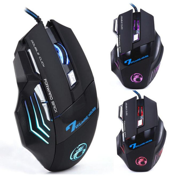 iMICE 2017 Top Brand X7 3200 DPI 7 Button LED Optical Gaming Mouse USB Wired gamer Mice computer Pro mouse For pc Wholesale