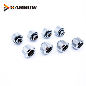 Image 2 - 8 Stks/partij OD12/14/16 Mm Harde Buis Montage Water Koeling Metalen Connector G1/4 OD12mm 14 Mm OD16mm Hand Compressie Messing Fitting