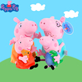Genuine 4pcs 19/30cm PeppaPig Plush Toys Dad George Pig Mom Peppa Early Educational Toys For Child Birthday Gifts