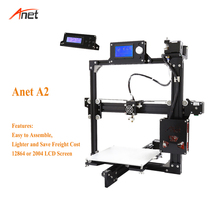 Anet A2 Metal Frame High Accuracy Imprimante 3d 22*27*22cm Or 22*22*22cm Printing Size Custom Option 3d Printer Single Extruder