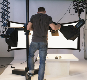 Image 5 - GSKAIWEN כפוף U הקליד אור רפלקטור/מפזר סט עם חצובה Eyelighter עבור צילום וידאו סטודיו Shot (כסף /זהב/לבן)
