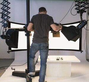 Image 5 - GSKAIWEN wygięty odbłyśnik/dyfuzor w kształcie litery U ze statywem Eyelighter na fotografia wideo Studio Shot (srebrny/złoty/biały)