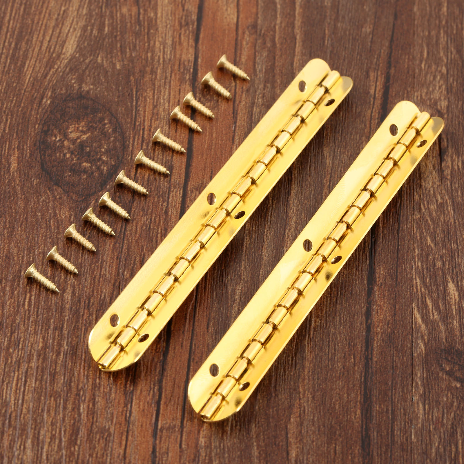 2Pcs Cabinet Drawer Door Hinges Furniture Fittings Antique Jewelry Wood Boxes Decorative Hinges Furniture Hardware 100*9mm