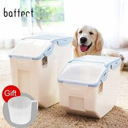 Plastic Pet Dog Feeder Storage Food Container Mildew Anti-oxidation Large Capacity Storage Fresh Box Food Container Dog Bucket