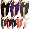 Women Beach Dress Sexy Sling Becah Wear Dress Sarong Bilini Cover Up Warp Pareo Dresses Towel Backless  Swimwear Femme Plus Size 1