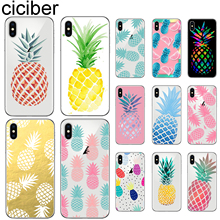 ciciber For Iphone 7 8 6 6S Plus X XR XS MAX 5S SE Soft Silicone TPU Cover for iphone 11 Pro Max Phone Case Fruit Pineapple Capa ciciber for iphone 7 8 6 6s plus 5s se x xr xs max soft silicone tpu cover for iphone 11 pro max phone case ariana grande coque