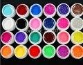 24 шт. Mix 12 чистая 12 блеск цвет уф-строитель уф-гель для Fasle советы комплект