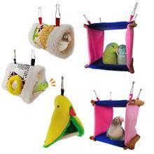 Квадратное Птичье гнездо для попугая мягкая плюшевая Птица Попугай гамак теплая подвесная кровать для питомца пещера клетка хижина палатка игрушка домик для маленьких животных