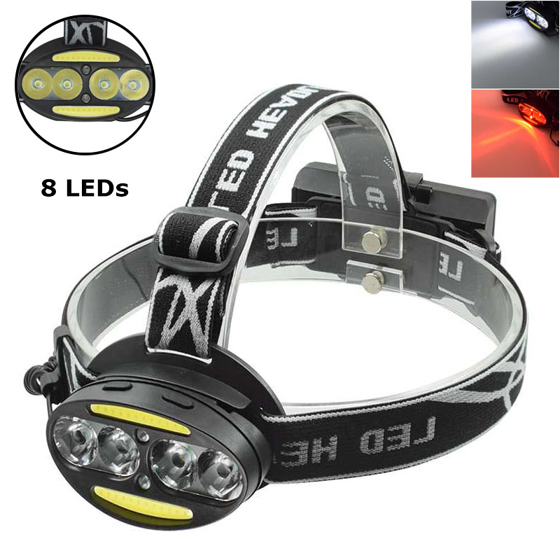 High Power 8 LED Head Torch Red White Light USB Rechargeable LED Headlamp Frontal Flashlight 7 Modes XML T6 Head Lamp Headlight sitemap 33 xml
