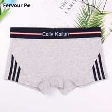 Fervour pe woman Cotton Underwear Women Panties handsome neutral Boyshort Stripe broadside shorts A19041