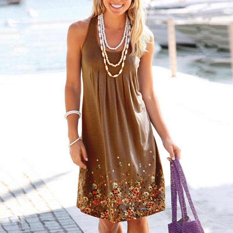 clothes women dress new ladies female womenshot print sleeveless o neck autumn retro style popular dresses in Dresses from Women 39 s Clothing