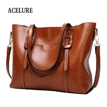 ACELURE Vintage Women PU Leather Shoulder Bag Female Large Tote Handbag Business Women Messenger Crossbody Bag For Women bolsas grande bolsas femininas de couro