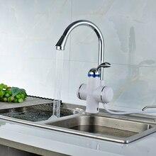 Электрический Смесители Мгновенных Tankless Электрический Нагреватель горячей Воды Кран Кухня Мгновенный Нагрев водопроводной Воды нагреватель с LED ЕС plug