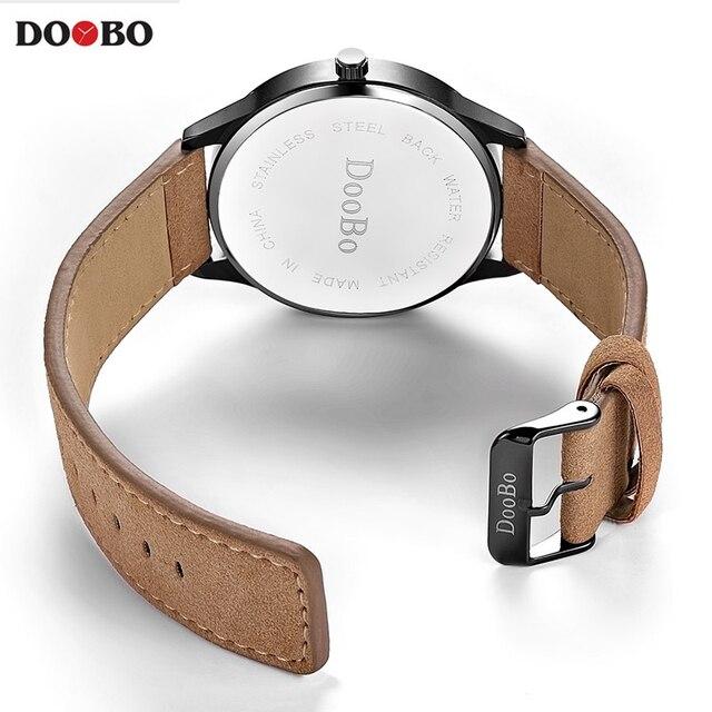 2017 DOOBO Fashion Casual Mens Watches Top Brand Luxury Leather Business Quartz Watch Men Wristwatch Relogio Masculino