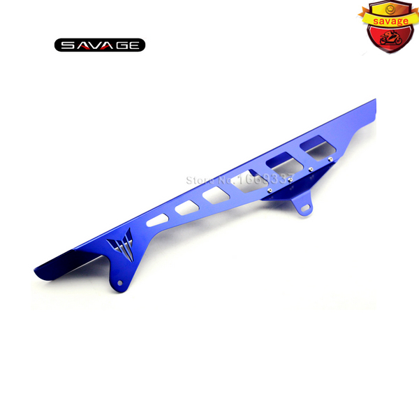 For YAMAHA YZF R25/R3 YZF-R3 YZF-R25 Motorcycle Accessories CNC Aluminum Chain Guard Protector Cover Blue motorcycle cnc aluminum mudguard rear fender bracket license plate holder light for yamaha yzf r25 r3 yzf r25 yzf r3